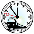 Railroad time rule - Stock Vector
