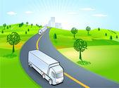 Forwarding company, truck — Stock Vector