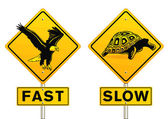 Fast and slow sign — Stockvektor