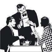 订购由服务员 — 图库矢量图片