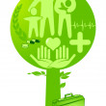 Medicine health tree — Stock Vector