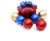 Matt christmas balls — Стоковое фото