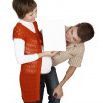 孕妇的标语牌 — 图库照片
