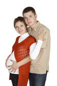 Moment over expectant child — Stock Photo