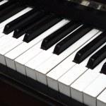 Piano Key close up shot — Stock Photo