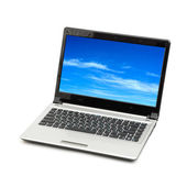 Blue sky in laptop — Stock Photo