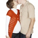 A young pregnant couple — Stock Photo