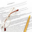 Stockfoto: Legal contract papers