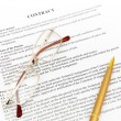 Stock Photo: Legal contract papers