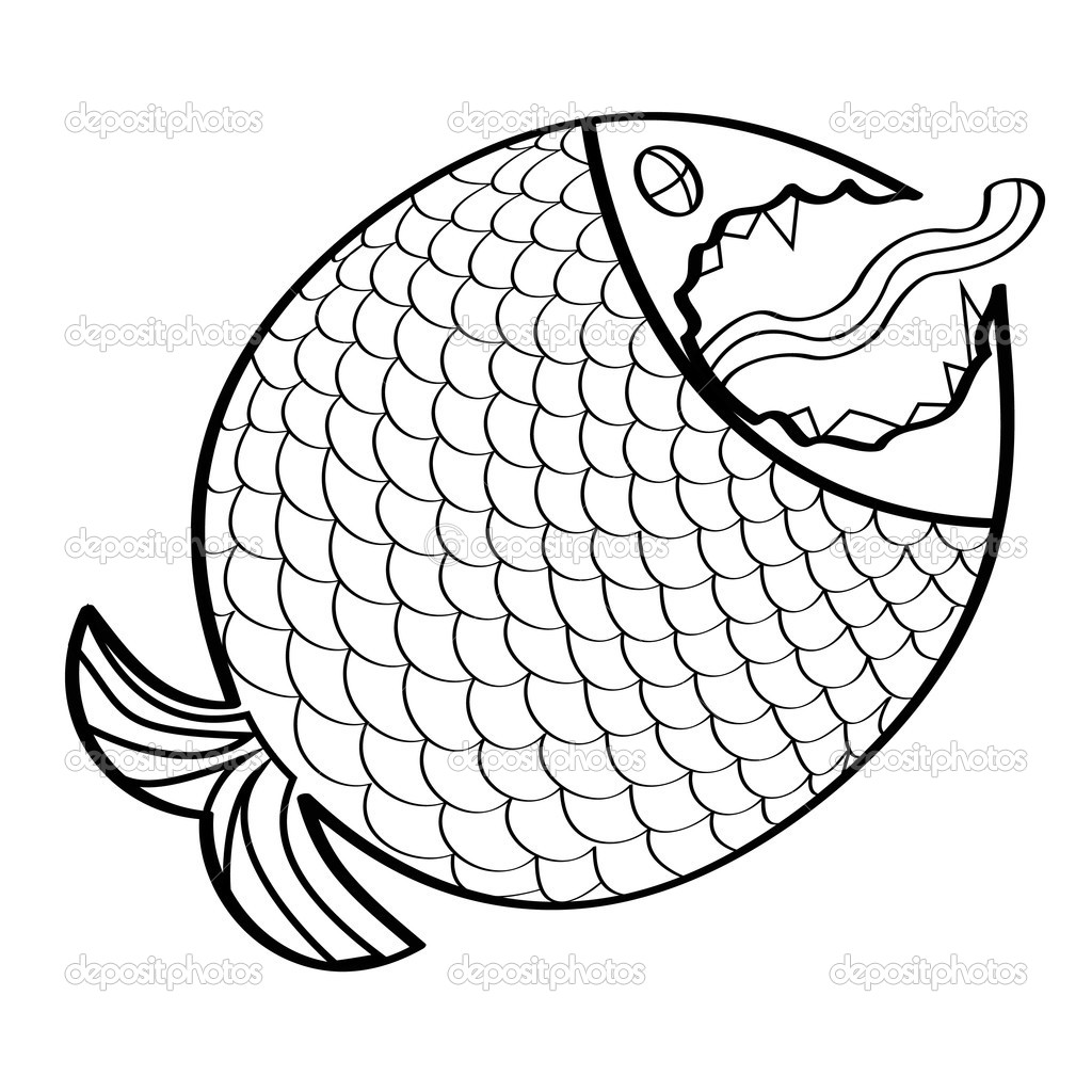 Big fish stock vector merznatalia 4527105 for Big fish script