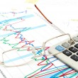 Financial Chart And Report - Stock Photo