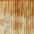 Rusty old corrugated iron fence — Lizenzfreies Foto