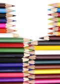 Color pencils in arrange in color — Stockfoto