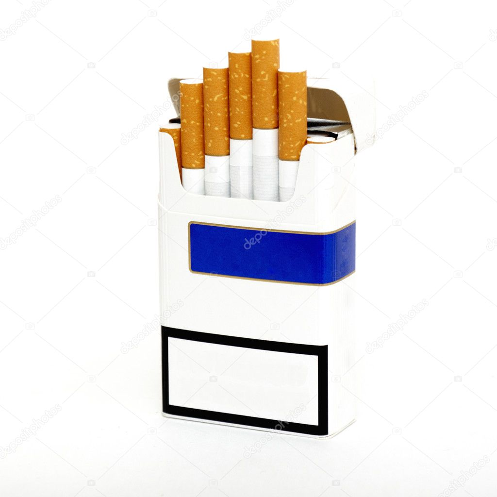 Pack of Cigarettes isolated on white background  Stock Photo #4596557