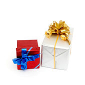 Holiday gift boxes — Stock Photo