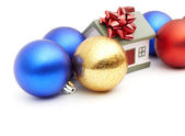 New year home and christmass ball — Stock Photo
