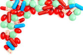 Colorful tablets with capsules — 图库照片