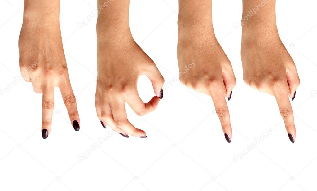Hands forming 2011 isolated on a white backgroun  Stock Photo #4707307