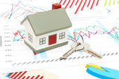 Housing market concept image with graph — Stock Photo