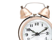 Bronze vintage alarm clock — Stock Photo