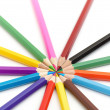 14 color pencils — Stock Photo