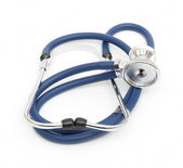 Blue stethoscope — Stock Photo