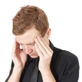 Ból głowy w pracy — Zdjęcie stockowe