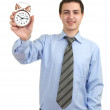 Businessman with an alarm clock in a hand. — Stock Photo #5236601