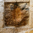 The Via Dolorosa fragment - Stockfoto