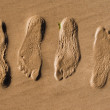 Royalty-Free Stock Photo: Footprints in sand