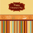 Vintage valentine's day card — Stockvectorbeeld