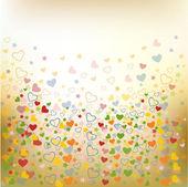 Renkli dikişsiz desen seviyorum — Stok Vektör
