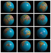 Mother Earth in 3D — Stock Photo