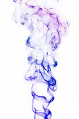 Multi-colored smoke on a white background. A close up. — Stock Photo