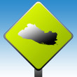 El Salvador road sign — Stock Photo