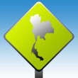 Thailand road sign — Stockfoto