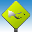 Papa New Guinea road sign — Stock Photo