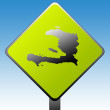 Haiti Road Sign — Stockfoto