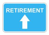 Signo de carretera de jubilación — Foto de Stock