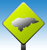 Honduras road sign — Stock Photo