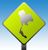 Thailand road sign — Stock Photo