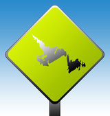 Newfoundland province road sign — Stock Photo