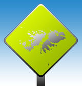 Falkland Islands road sign — Stock Photo