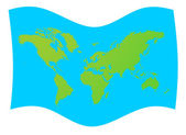 World map flag — Stock Photo