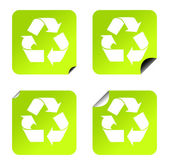 Recycling stickers — Stock Photo