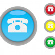 Telephone contact buttons — Stock Photo