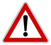 Triangle warning sign — Stock Photo