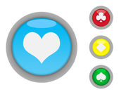 Card suits button icons — Foto de Stock