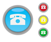 Telephone contact buttons — Stock fotografie