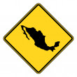 Stock Photo: Mexico road sign